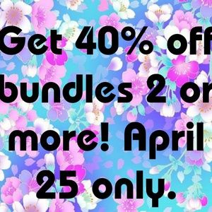 Today only save 40% off bundles of 2 or more